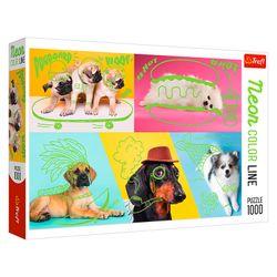 "Puzzle ""1000 Neon Color Line"" - câini, cod 43101"