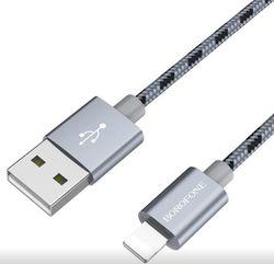cumpără Cablu telefon mobil Borofone BX24 Ring cable Lightning, Gray în Chișinău