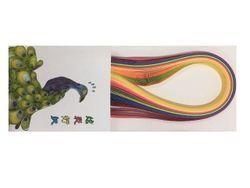 Набор лент для квиллинга 53X1cm, 12цветов