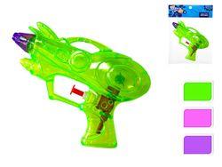 Pistol de apa transparent 15cm, 3 culori