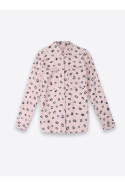 Блуза TOP SECRET Розовый с принтом