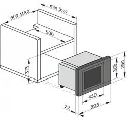 Cuptor cu microunde incorporabil Kaiser EM 2510