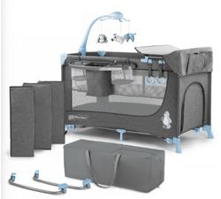 Кроватка-манеж с аксессуарами KinderKraft Joy голубой
