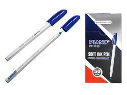 Ручка шариковая PT-1159 soft ink,1mm, синяя