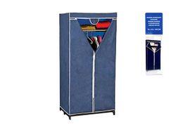 Шкаф-органайзер тканевый Blue 160X75X50cm, с полкой