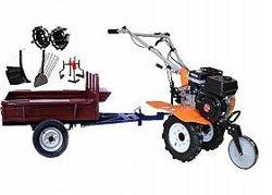 Set motocultivator TECHNOWORKER HB 700N+Remorca RK500 + plug reglabil + plug cartofi + roti metalice 4*8 + prasitoare