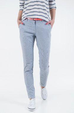 Pantaloni TOM TAILOR Albastru/alb 1016542