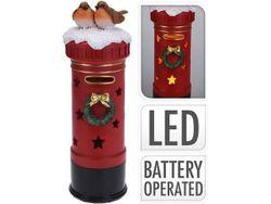 Сувенир LED Пожарный кран с птицами 42X14cm, керам