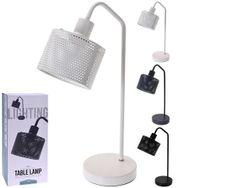 Лампа настольная H46cm, металл, max 25W, 3 цвета