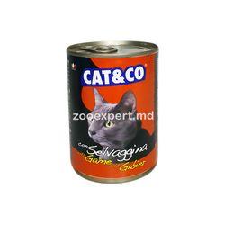 Cat & Co дичь 405 gr