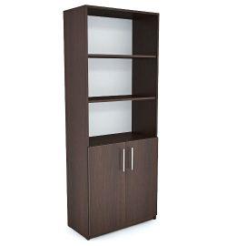 Office Line №1 Шкаф открытого типа Орех тёмный