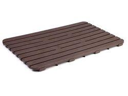 Настил для душа Tatay 80X50X3cm коричневый, пластик