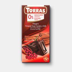 Шоколад темный c чили и корицей без сахара без глютена Torras 75г
