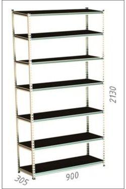 Стеллаж металлический Moduline 900x305x2130 мм, 7 полок/0164PE антрацит