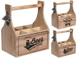Ящик Beer на 6 бутылок, 27.5X26X15.5cm, дерево