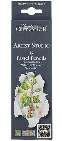 Set de creioane pastelate 8 culori. pentru desenarea vieții nemișcate Artist Studio Cretacolor