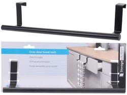 Перекладина для полотенец навесная 36.5X8X6cm, металл, черны