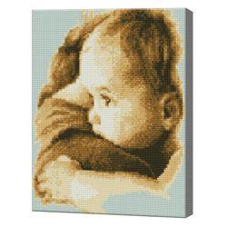 Ребенок на руках у матери, 30x40 см, алмазная мозаика QS200777