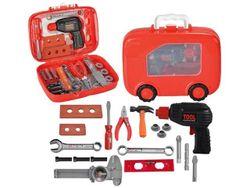 Set jucarii-instrumente in valiza rosu 28X21X9cm