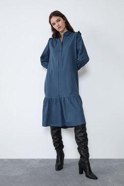 Платье ZARA Синий 5644/909/407