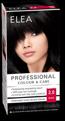Краска для волос,SOLVEX Elea, 138 мл., 2.0 - Чёрный