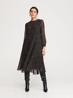 Платье RESERVED Черный в цветочек wn973-99x