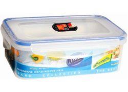 Recipient pentru pastrarea produselor dreptunghiular, 20X13X7cm, plastic