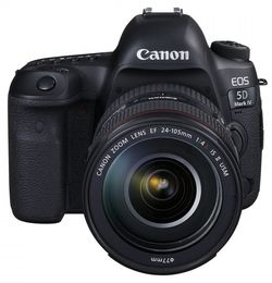 cumpără Aparat foto DSLR Canon EOS 5D Mark IV + 24-105mm F/4 L IS II USM (1483C030) în Chișinău