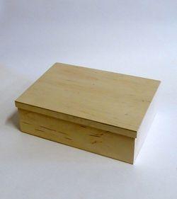 Cutie din placaj cu 4 compartimente 8x17x23.5cm