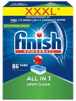 cumpără Detergent mașina de spălat vase Finish 3593 All in One 86 tab în Chișinău