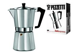 Кофеварка на 9 чашек Ghidini Pezzetti, алюминиевая
