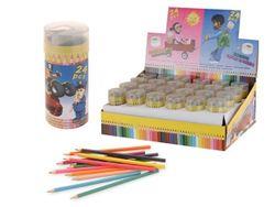 Creioane colorate 24buc, 9cm + ascutitoare