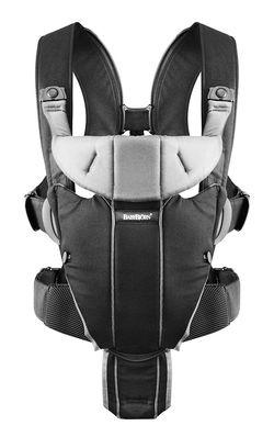 Анатомический рюкзак-кенгуру BabyBjorn Miracle Black-Silver