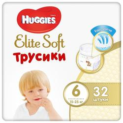 Трусики Huggies Elite Soft Mega 6 (16-22 kg), 32 шт.