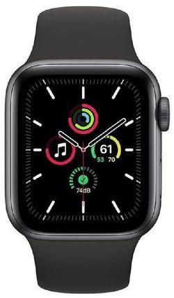 cumpără Ceas inteligent Apple Apple Watch SE 44mm Space Gray/Black Sport Band (MYDT2) în Chișinău