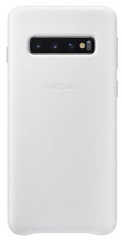 купить Чехол для моб.устройства Samsung EF-VG973 Leather Cover Galaxy S10 White в Кишинёве