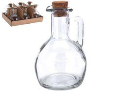 Бутылка для масла и уксуса 150ml, D7cm, H11cm, с пробкой
