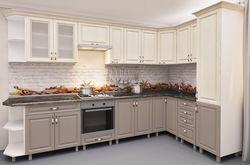Bucătărie Bafimob Corner MDF 3.4x1.7m Beige/Cappuccino