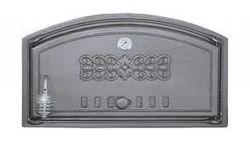 Дверца чугунная глухая правая с термометром DCH2T