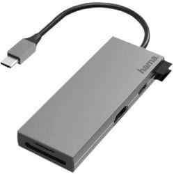 cumpără Adaptor IT Hama 200110 USB-C Multiport, 6 Ports, 2 x USB-A, USB-C, HDMI, SD, microSD în Chișinău