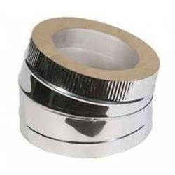 Отвод двустенный из нержавеющей стали 30° Ø 100-180 мм