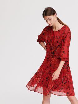 Платье RESERVED Красный с принтом xk870