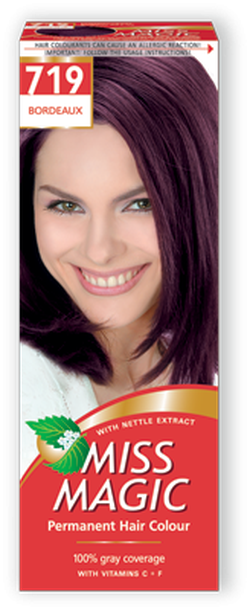 Vopsea p/u păr, SOLVEX Miss Magic, 90 ml., 719 - Roșu bordo