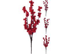 Набор веточек красных ягод 3ед, 15cm, пластик, 3 дизайна