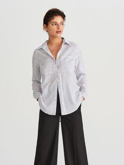 Блуза RESERVED Белый в полоску we337-01x