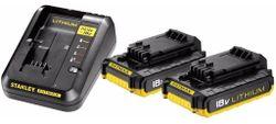 Аккумулятор и зарядное устройство для инструмента Stanley FatMax FMC693D2 Set