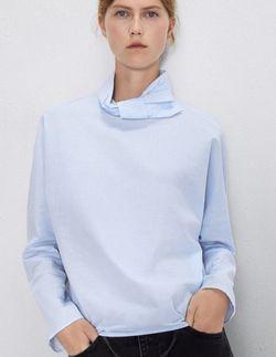 Блуза ZARA Голубой 1971/181/403