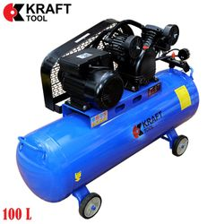 Compresor 2200W 8 Bar KT100L2C KraftTool