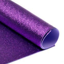 Foamiran cu sclipici Culoare: violet închis, A4