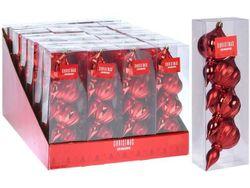 Set decor brad 4buc Titirez 11X6сm, plastic, rosii